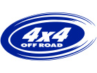 4x 4 Oval Sharp Left Decal