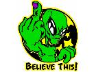 Alien Believe Finger G D 1 Decal