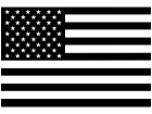 American Flag One Color Decal