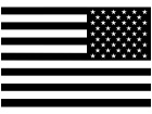 American Flag One Color R E V Decal