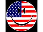 American Smiley Flag C L 1 Decal