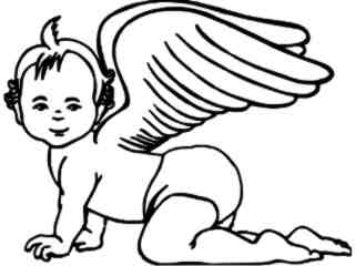 Angel Baby Decal Proportional