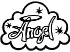Angel Cloud Word Decal