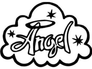 Angel Cloud Word Decal Proportional