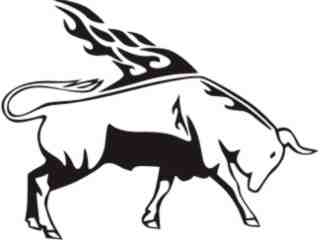 Animal Flames Bull_ 0 6 7b_ A F 1 Decal Proportional
