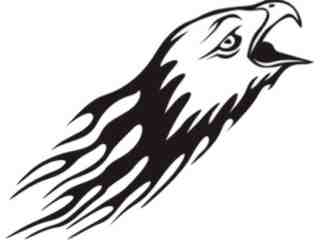 Animal Flames Eagle_ 0 2 3b_ A F 1 Decal Proportional