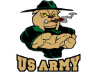 Army Bulldog Drill C L 1 Decal