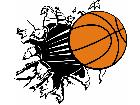 Basketball Burst C L 1 Decal