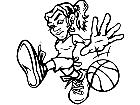 Basketball Girl Dribbler M B 1 Decal
