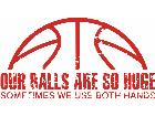 Basketball Huge Balls Decal