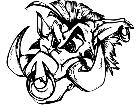 Boar Hog Head 4 M B 1 Decal