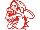 Bulldog Fire Fighter Decal