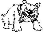 Bulldog Funny Growl M B 1 Decal