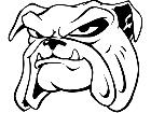 Bulldog Head 1 M B 1 Decal