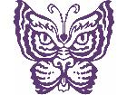 Butterfly Cat Decal