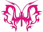 Butterfly Tribal 0 7 Decal