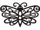 Butterfly Tribalized 0 8 8 Decal