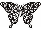 Butterfly Tribalized 0 8 9 Decal