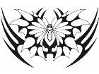Butterfly Tribalized 1 1 1 Decal