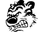 Calvin Hobbes Head Mad Decal