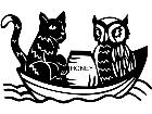 Cats Owl And The Pussycat 1 3 2 V A 1 Decal