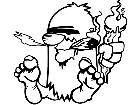 Caveman Smoker Decal