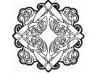 Celtic Ornaments 0 0 5 8w Decal