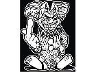 Clown Middle Finger Decal