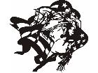 Cowboy Up Flag C U 1 Decal