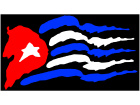Cuba Rough Style Flag 1 C L 1 Decal