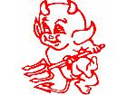 Devil Baby Go Decal