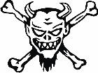 Devil Crossbones Decal