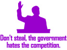 Dont Steal Government Decal