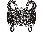 Dragon Circle Celtic Decal
