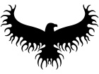 Eagle Fire Bird Flame Special Decal