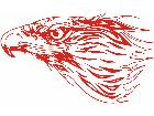 Eagle Flame Head 0 4 E F 1 Decal