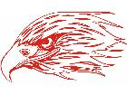 Eagle Flame Head 2 0 E F 1 Decal