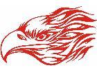 Eagle Flame Head 2 4 E F 1 Decal