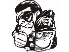 Fear Mascots Biker 0 5 6 3 D G Decal
