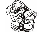 Fear Mascots Fireman 0 6 0 3 D G Decal
