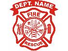 Fire Dept Custom Decal