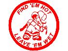 Fire Fighjter Find Em Hot 2 Decal