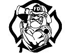 Fire Fighter Bulldog Decal