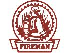 Fire Man Traditional Decal