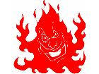 Fireman Flamer Decal
