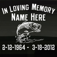 Fishing Bass In Loving Memory Decal Image