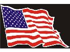 Flag American Wave C L 1 Decal