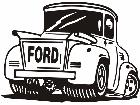Ford Old Truck Decal