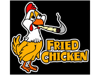 Fried Chicken Weed 2_ C L 1 Decal Proportional