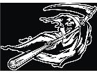 Grim Reaper Blowing Decal